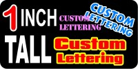 z14 Custom Lettering 1 Inch Tall Decal / Sticker