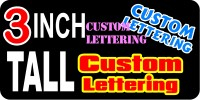 z18 Custom Lettering 3 Inch Tall  Decal / Sticker