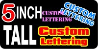 z192 Custom Lettering 5 Inch Tall Decal / Sticker