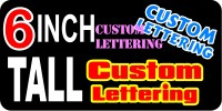 z193 Custom Lettering 6 Inch Tall Decal / Sticker