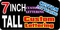 z194 Custom Lettering 7 Inch Tall Decal / Sticker
