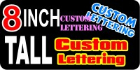 z195 Custom Lettering 8 Inch Tall Decal / Sticker