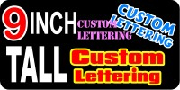 z196 Custom Lettering 9 Inch Tall Decal / Sticker