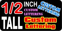 z12 Custom Lettering Half Inch Tall Decal / Sticker