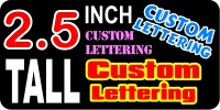 z17 Custom Lettering 2.5 Inch Tall  Decal / Sticker