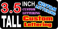 z19 Custom Lettering 3.5 Inch Tall Decal / Sticker
