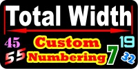CUSTOM NUMBER DECALS and CUSTOM NUMBER STICKERS