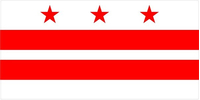Washington D.C. Flag Decal / Sticker 01