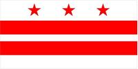 Washington D.C. Flag Decal / Sticker 01