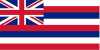 Hawaii State Flag Decal / Sticker 01
