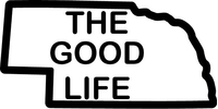 Nebraska The Good Life Decal / Sticker 04