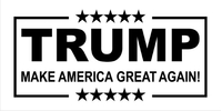 TRUMP MAGA Flag Decal / Sticker 17