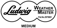 Ludwig Weather Master Medium Decal / Sticker 12