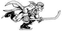 Hockey Pirates Mascot Decal / Sticker 1