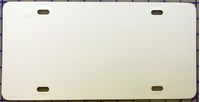 zz Plastic White Blank License Plate