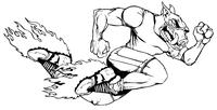 Razorbacks Track and Field Mascot Decal / Sticker