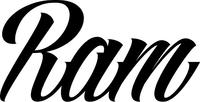 Ram Lettering Decal / Sticker 03