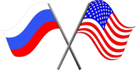 Russian and USA flags Decal / Sticker