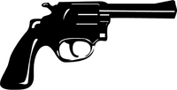 Revolver Decal / Sticker 01