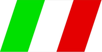 Italian Flag Decal / Sticker 07