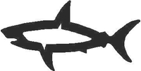 Shark Decal / Sticker 08