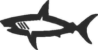 Shark Decal / Sticker 10