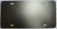 zz Plastic Black Blank License Plate