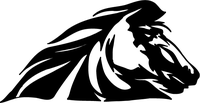 Horse Head Mascot Decal / Sticker 02