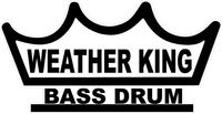 Weather King Bass Drum Decal / Sticker 02