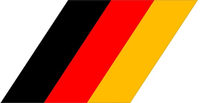BMW M German Flag Decal / Sticker 36