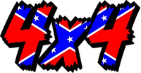 Z 4x4 Confederate Flag Decal / Sticker 51