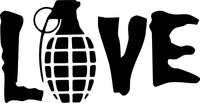 Grenade Gloves Love Grenade Decal / Sticker 05