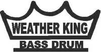 Weather King Bass Drum Decal / Sticker