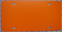 zz Plastic Orange Blank License Plate
