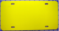 zz Plastic Yellow Blank License Plate