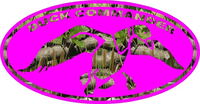 Pink Camouflage Duck Commander Hunting Decal / Sticker