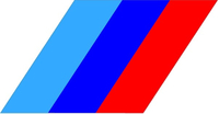 BMW M Stripes Decal / Sticker 42
