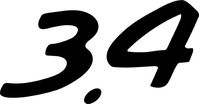 Porsche 3.4 Numbers Decal / Sticker 17