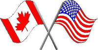 American and Canadian Flag Decal / Sticker