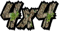 4x4 Heavy Timber Camouflage Decal / Sticker