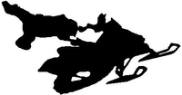 Snowmobile Jump Decal / Sticker