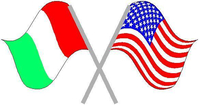 Italian and USA flags Decal / Sticker