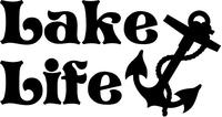 Lake Life Anchor Decal / Sticker 02