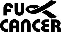 Fuck Cancer Decal / Sticker 06