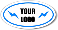 Oval Decal / Sticker Quote (White or Yellow Material with Spot Colors)