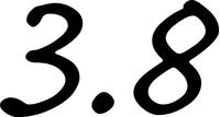 Porsche 3.8 Numbers Decal / Sticker