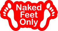 Naked Feet Only Decal / Sticker 04