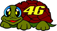 Valentino Rossi Tartarughina (Turtle) Decal / Sticker 01