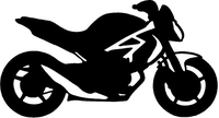 Ducati Monster Outline Decal / Sticker 01