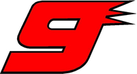9 Race Number 2 COLOR Decal / Sticker